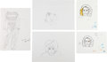 Music Memorabilia:Original Art, The Who - John Entwistle Drawings of Who Bandmates (1980s)....