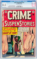 Golden Age (1938-1955):Crime, Crime SuspenStories #11 (EC, 1952) CGC VF+ 8.5 Off-white to white pages....