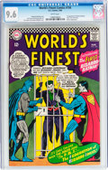 Silver Age (1956-1969):Superhero, World's Finest Comics #156 (DC, 1966) CGC NM+ 9.6 White pages....