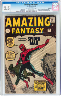 Amazing Fantasy #15 UK Edition (Marvel, 1962) CGC GD+ 2.5 Off-white to white pages