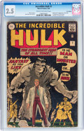 Silver Age (1956-1969):Superhero, The Incredible Hulk #1 UK Edition (Marvel, 1962) CGC GD+ 2.5 Cream to off-white pages....