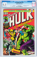 Bronze Age (1970-1979):Superhero, The Incredible Hulk #181 (Marvel, 1974) CGC VG+ 4.5 Off-white towhite pages....