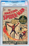 Silver Age (1956-1969):Superhero, The Amazing Spider-Man #1 (Marvel, 1963) CGC GD/VG 3.0 Light tan to off-white pages....
