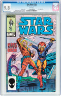 Modern Age (1980-Present):Science Fiction, Star Wars #102 (Marvel, 1985) CGC NM/MT 9.8 White pages....