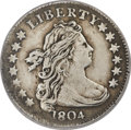 Early Dimes, 1804 10C 14 Stars Reverse, JR-2, R.5 -- Repaired, Whizzed -- NCS.XF Details....