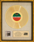Music Memorabilia:Awards, Led Zeppelin IV Presentation Gold Record.. ...