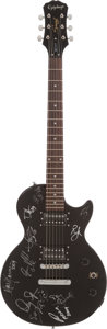 Musical Instruments:Electric Guitars, Steven Tyler, Todd Rundgren, and More Signed Guitar (Epiphone,2008)....