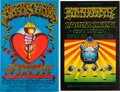 Music Memorabilia:Posters, Big Brother and the Holding Company and Iron Butterfly Fillmore West Concert Poster Group (Bill Graham, 1968).... (Total: 2 Items)