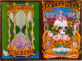 Music Memorabilia:Posters, Grateful Dead and Vanilla Fudge New Year's Eve Uncut Poster Sheet BG-152/153 (Bill Graham, 1968)....