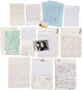 Music Memorabilia:Documents, Chet Baker Collection of Correspondence and Photos, 1980s....