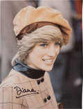 Movie/TV Memorabilia:Autographs and Signed Items, A Princess Diana Signed Color Image, Circa 1980s....