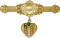 Estate Jewelry:Brooches - Pins, Diamond, Emerald, Gold Brooch, Judith Ripka. ...