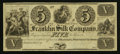 Obsoletes By State:Ohio, Franklin, OH- The Franklin Silk Company $5 18__ Remainder Wolka1124-04. ...