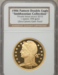 Patterns, 1906 One-Ounce .999 Gold Double Eagle Pattern Restrike, Private Issue Struck 2010 Gem Proof Ultra Cameo NGC. Ex: Smithsoni...