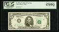 Small Size:Federal Reserve Notes, Top Pop Fr. 1970-J* $5 1969A Federal Reserve Note. PCGS Superb Gem New 67PPQ.. ...
