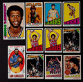 Basketball Cards:Lots, 1969 - 1977 Topps Basketball Stars and HoFers Group (23) WithRookies. ...