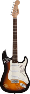 Musical Instruments:Electric Guitars, Roger Daltrey, Vince Neil and Others Signed Guitar (Fender,2007).... (Total: 2 Items)