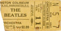 Music Memorabilia:Tickets, Beatles Washington Coliseum Ticket Stub, Their First AmericanConcert Appearance (1964)....