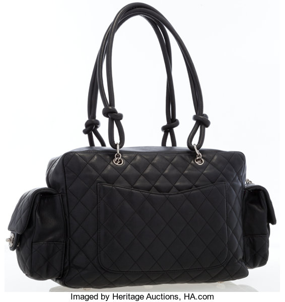 1f4ea86c740ef1 Chanel Black Quilted Lambskin Leather Cambon Reporter Bag. ... | Lot #17022  | Heritage Auctions