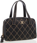 Luxury Accessories:Bags, Chanel Black Quilted Lambskin Leather Tote Bag . ...