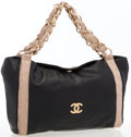 Luxury Accessories:Bags, Chanel Black Lambskin Leather Tote Bag with Gold Hardware. ...
