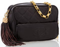 Luxury Accessories:Bags, Chanel Brown Quilted Lambskin Leather Camera Bag with Tassel. ...