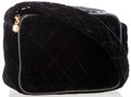 Luxury Accessories:Bags, Chanel Black Quilted Velvet Shoulder Bag . ...
