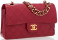 Luxury Accessories:Bags, Chanel Red Quilted Lambskin Leather Small Double Flap Bag with GoldHardware. ...