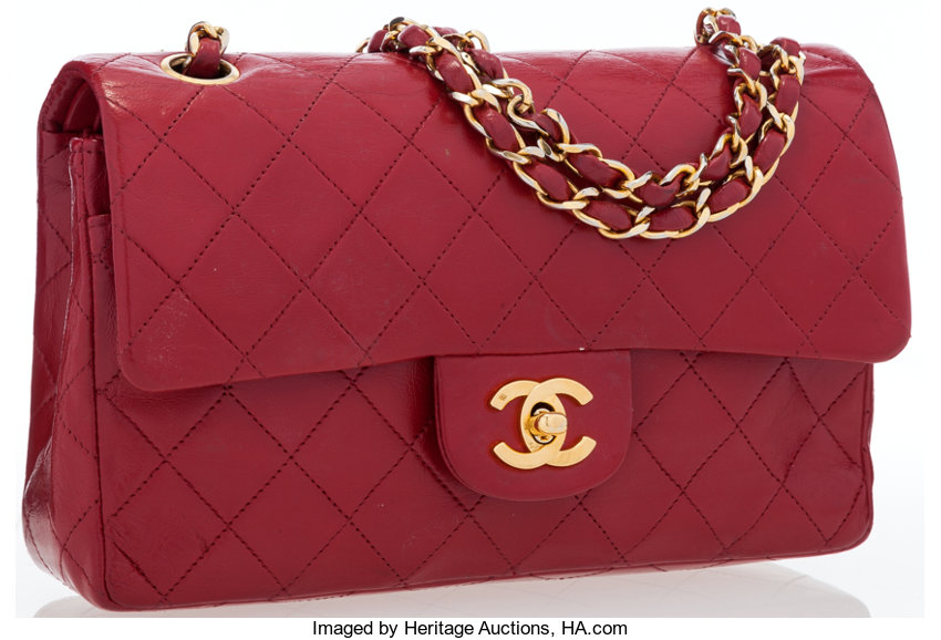 d20731a793db ... Luxury Accessories:Bags, Chanel Red Quilted Lambskin Leather Small Double  Flap Bag with GoldHardware ...
