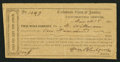 Confederate Notes:Group Lots, Interim Depository Receipt Lynchburg, (VA)- $100 Mar. 18, 1864Tremmel VA-92.. ...
