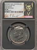 Kennedy Half Dollars, 2014-P 50C High Relief, Clad, 50th Anniversary, First Releases SP68NGC. PCGS Population (186/32)....