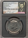 Kennedy Half Dollars, 2014-D 50C High Relief, Clad, 50th Anniversary, First Releases SP67NGC. PCGS Population (353/135)....