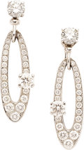 Estate Jewelry:Earrings, Diamond, White Gold Earrings, Bvlgari. ... (Total: 2 Items)