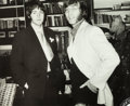 Music Memorabilia:Photos, Beatles - John Lennon and Paul McCartney Photo from Dick Clark'sCollection. ...
