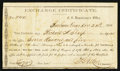 Confederate Notes:Group Lots, Confederate Exchange Certificate Bonham, Texas-$470 Dec. 24, 1864Tremmell TX-6. . ...
