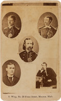 Photography:CDVs, George Armstrong Custer: Carte de Visite of Custer and Family Members Killed during the Battle of Little Bighorn....