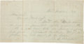 Autographs:U.S. Presidents, [Battle of Fort Donelson]. Ulysses S. Grant Autograph Letter Twice Signed...