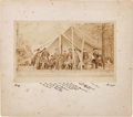 Autographs:U.S. Presidents, Photograph: General Ulysses S. Grant and Staff on a Mathew Brady Mount....