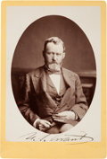 Autographs:U.S. Presidents, Ulysses S. Grant Cabinet Card Signed...