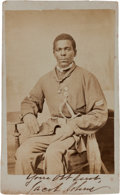 Autographs:Military Figures, [19th Regiment United States Colored Troops]. Jacob Johns Cartede Visite Signed....