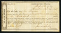 Confederate Notes:Group Lots, Interim Depository Receipt Houston, (TX)- $600 September 24, 1864Tremmell TX-47.. ...