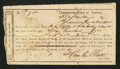 Confederate Notes:Group Lots, Interim Depository Receipt Greenville, SC- $700 Mar. 14, 1864Tremmel SC-148. . ...