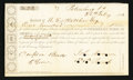 Confederate Notes:Group Lots, Interim Depository Receipt Petersburg, VA- $100 Feb. 26, 1862Tremmell VA-112.. ...
