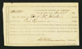 Confederate Notes:Group Lots, Interim Depository Receipt Charlotte, NC- $2000 Mar. 7, 1864Tremmel NC-19.. ...