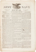 """Miscellaneous:Newspaper, [Civil War -- Battle of Palmito Ranch]. Newspaper: Army NavyJournal. Sixteen pages, 10.5"""" x 15"""", New York, June..."""