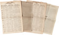 """Miscellaneous:Newspaper, [Napoleon Bonaparte]. Four Newspapers with Napoleon Contentincluding: The Connecticut Courant. Four pages, 12.25"""" x..."""