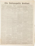 "Miscellaneous:Newspaper, [Mormons - Brigham Young]. Newspaper: The IndianapolisSentinel. Eight pages, 15.25"" x 20.5"", April 13, 1873. Co..."