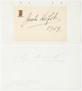 Autographs:Non-American, Sergei Rachmaninoff and Jascha Heifetz Signatures. Rachmaninoff,the famous Russian composer and pianist, has placed his sig...
