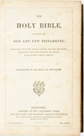 Books:Literature Pre-1900, [Bible] The Holy Bible, Containing the Old and NewTestaments. Oxford: University Press, [n.d., ca. 1885]. Fullmoro...