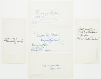 Group of Five American Authors' Signatures including Margaret Deland, Fannie Hurst, Kathleen